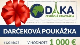 Darčeková poukážka 1 000 €